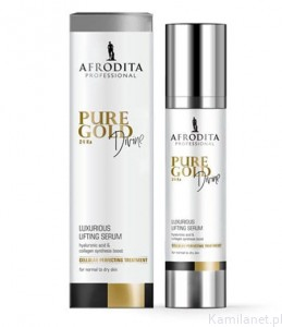 Pure Gold DIVINE 24 Ka LUXURIOUS LIFTING SERUM for normal to dry skin 100 ml  Afrodita Cosmetics